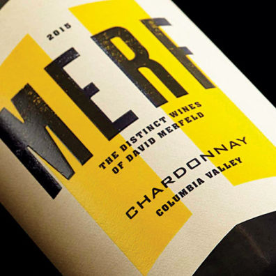 Merf wine label by Doubleknot Creative
