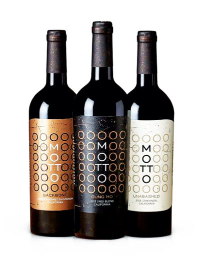 Motto wine labels by Doubleknot Creative