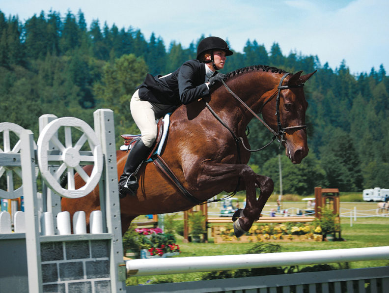 Laura Moore on horse jumping in equestrian contest
