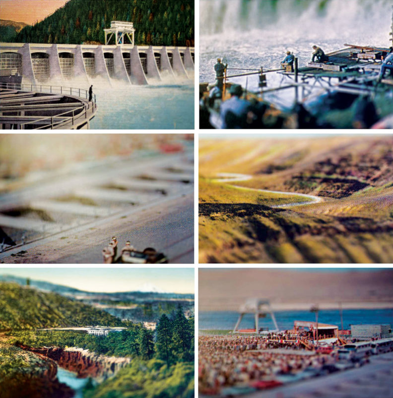 Re-photographed Postcards by Dennis DeHart, 2014
