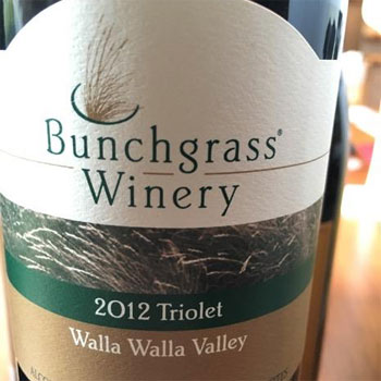 Bunchgrass Winery bottle