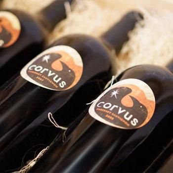 Corvus Cellars bottles