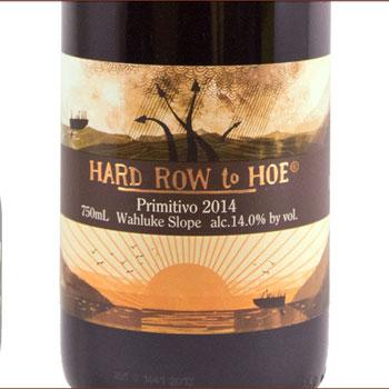 Hard Row to Hoe Vineyard bottle