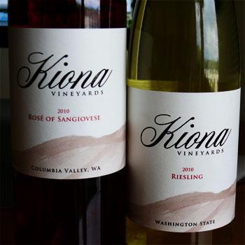 Kiona Vineyards & Winery bottles