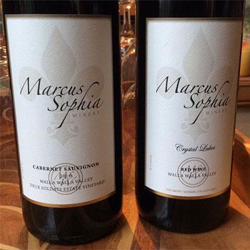 Marcus Sophia Winery bottle