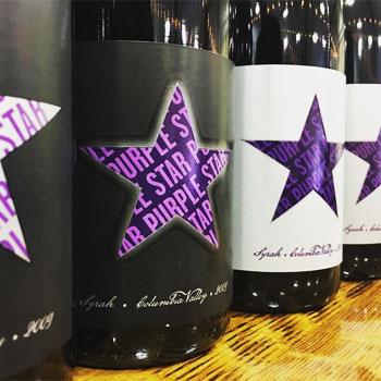 Purple Star Wines bottles