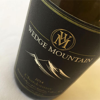 Wedge Mountain Winery bottle
