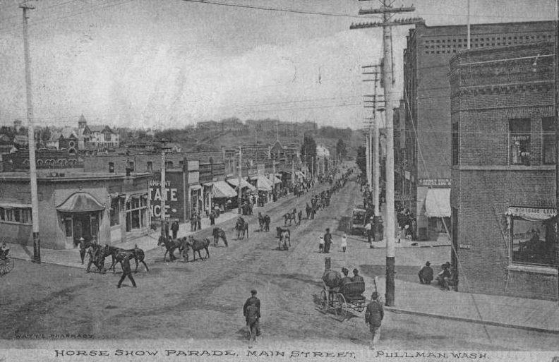Horse parade 1910 in Pullman