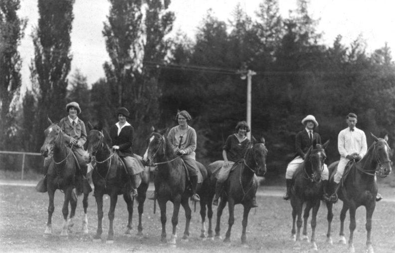 WSC horseback riders 1925