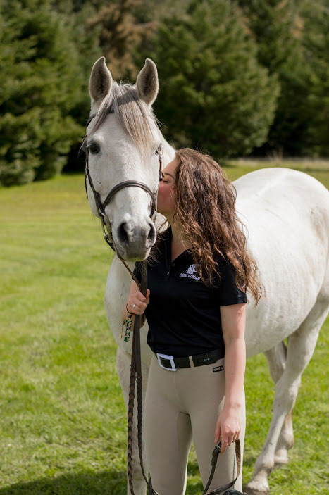 WSU student with horse