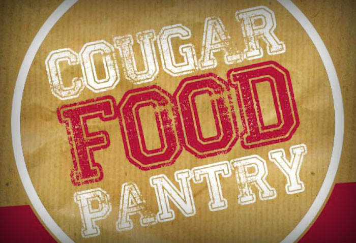 Cougar Food Pantry sign on the WSU Vancouver campus