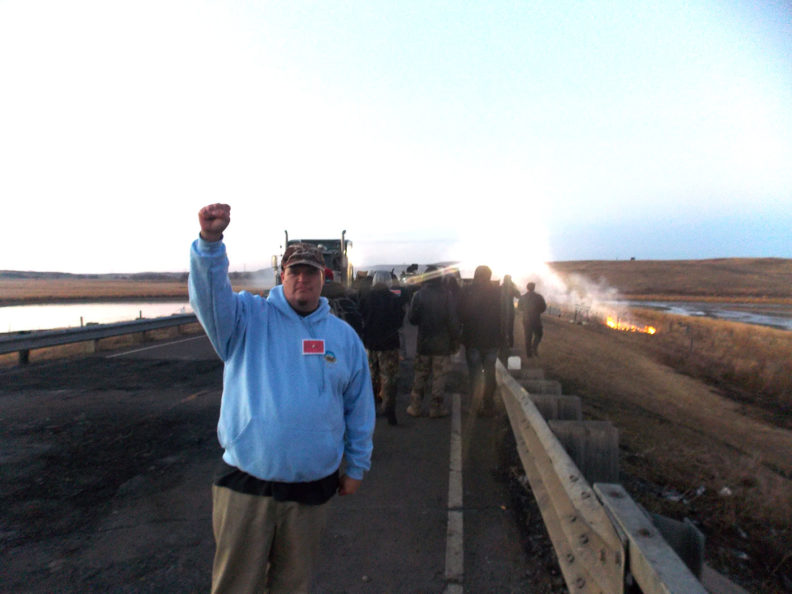 Greg Urquhart at Standing Rock