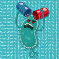 Superbug. Illustration Luciano Cosmo