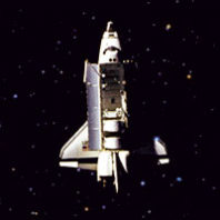 Space Shuttle Challenger in space