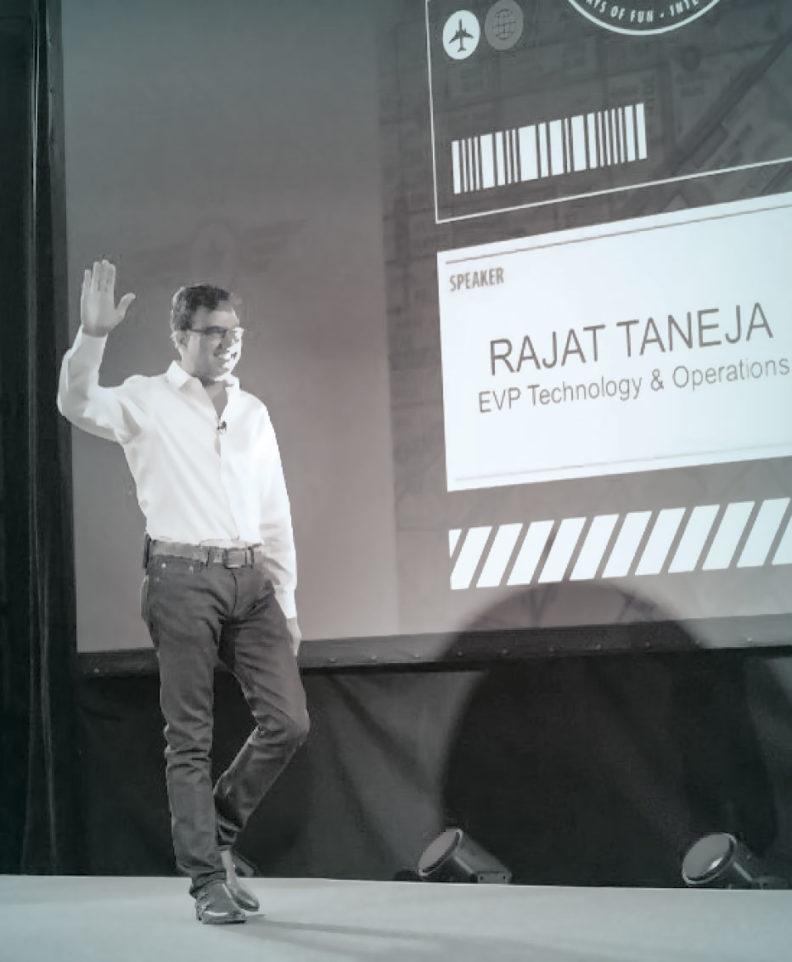 Rajat Taneja on stage