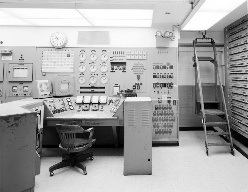 reactor operator's console in Hanford control room