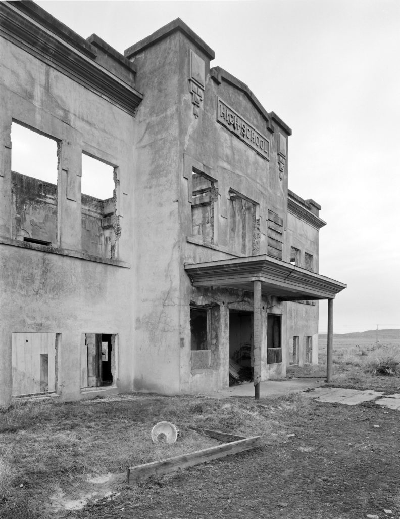 Hanford High School, abandoned with the creation of the Hanford Nuclear Reservation