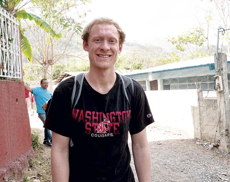 Lars Neuenschwander in Guatemalan village