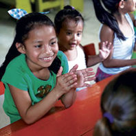 Guatemalan children clapping. Photo Matt Winchell
