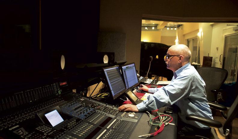 Dave Bjur in the WSU recording studio