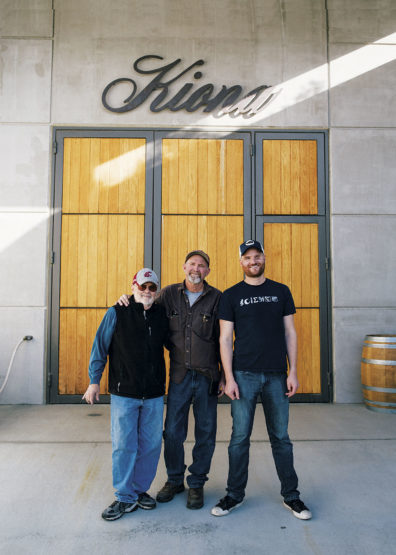 Three generations of winemaking by the Williams family—Grandfather John, Father Scott, and son JJ