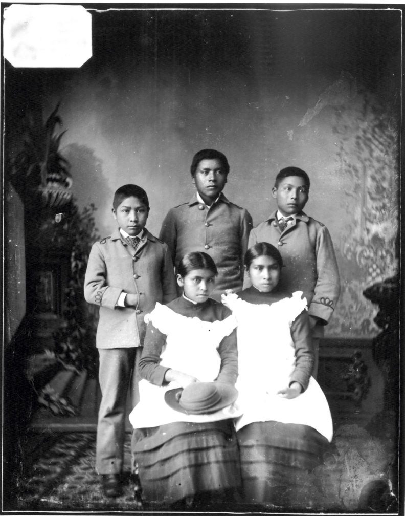 Nez Perce children at Carlisle boarding school in 1880s