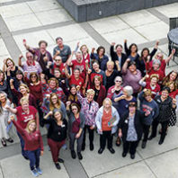 WSU College of Nursing faculty and alumni (Photo Cori Kogan)
