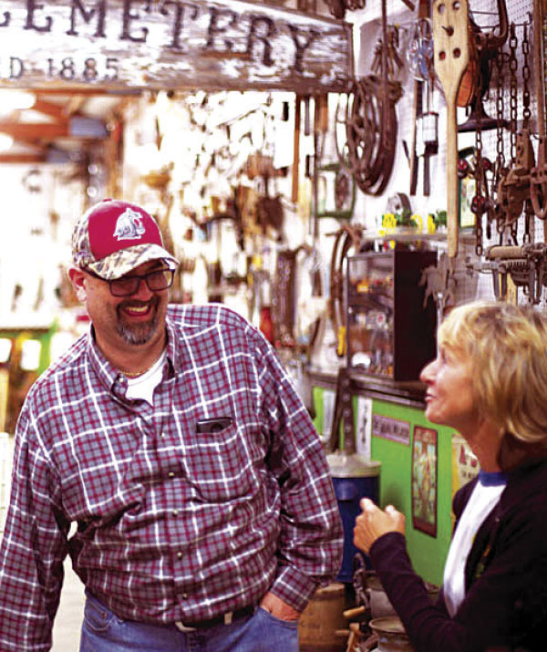 Trevor Lane with Connie Long at North Spokane Farm Museum