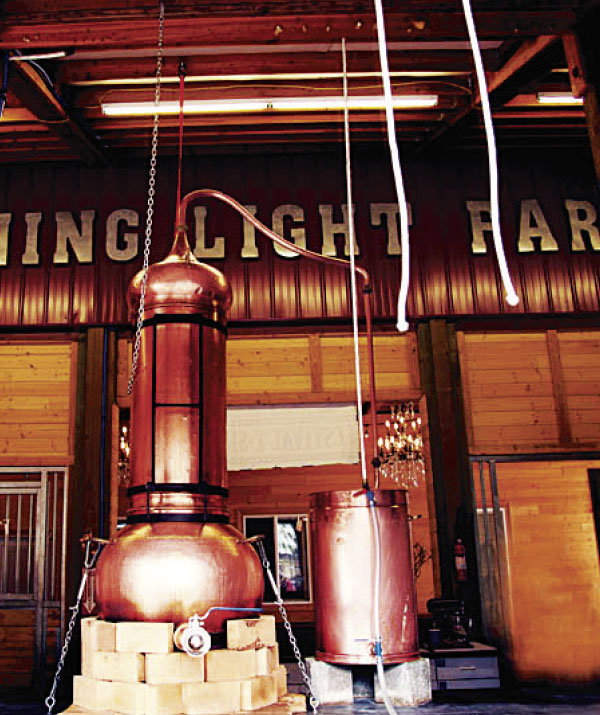 Portuguese copper stills at Evening Light Lavender