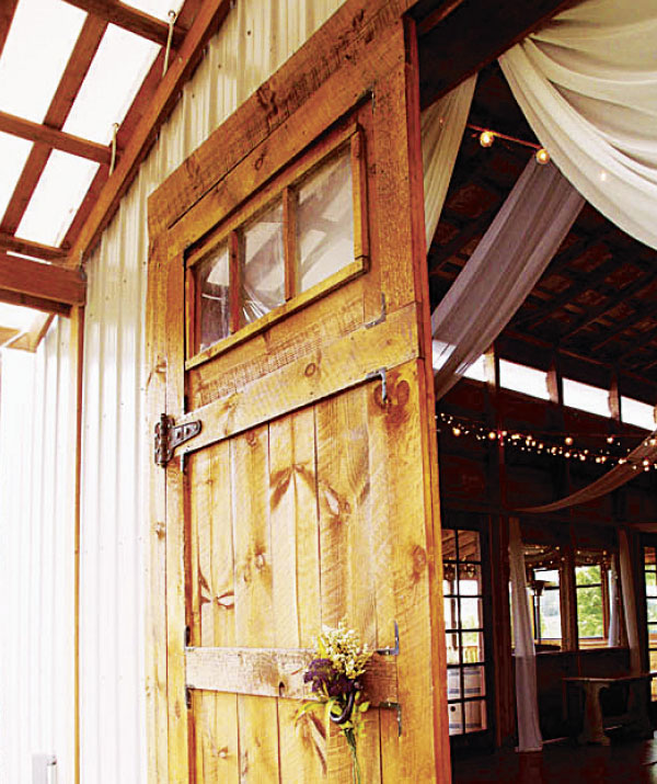Door at The Barn wedding venue