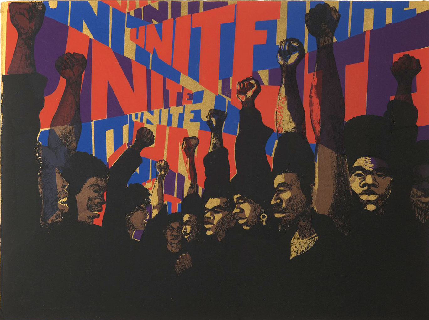 Unite, 1971, by Barbara Jones-Hogu