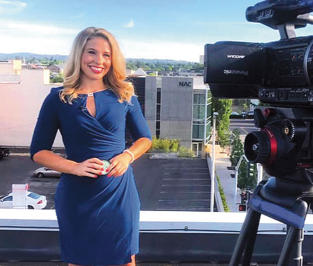 Majestic Storm with video camera about to do weather report in Spokane