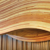 Construction with curved cross-laminated timber at WSU Everett