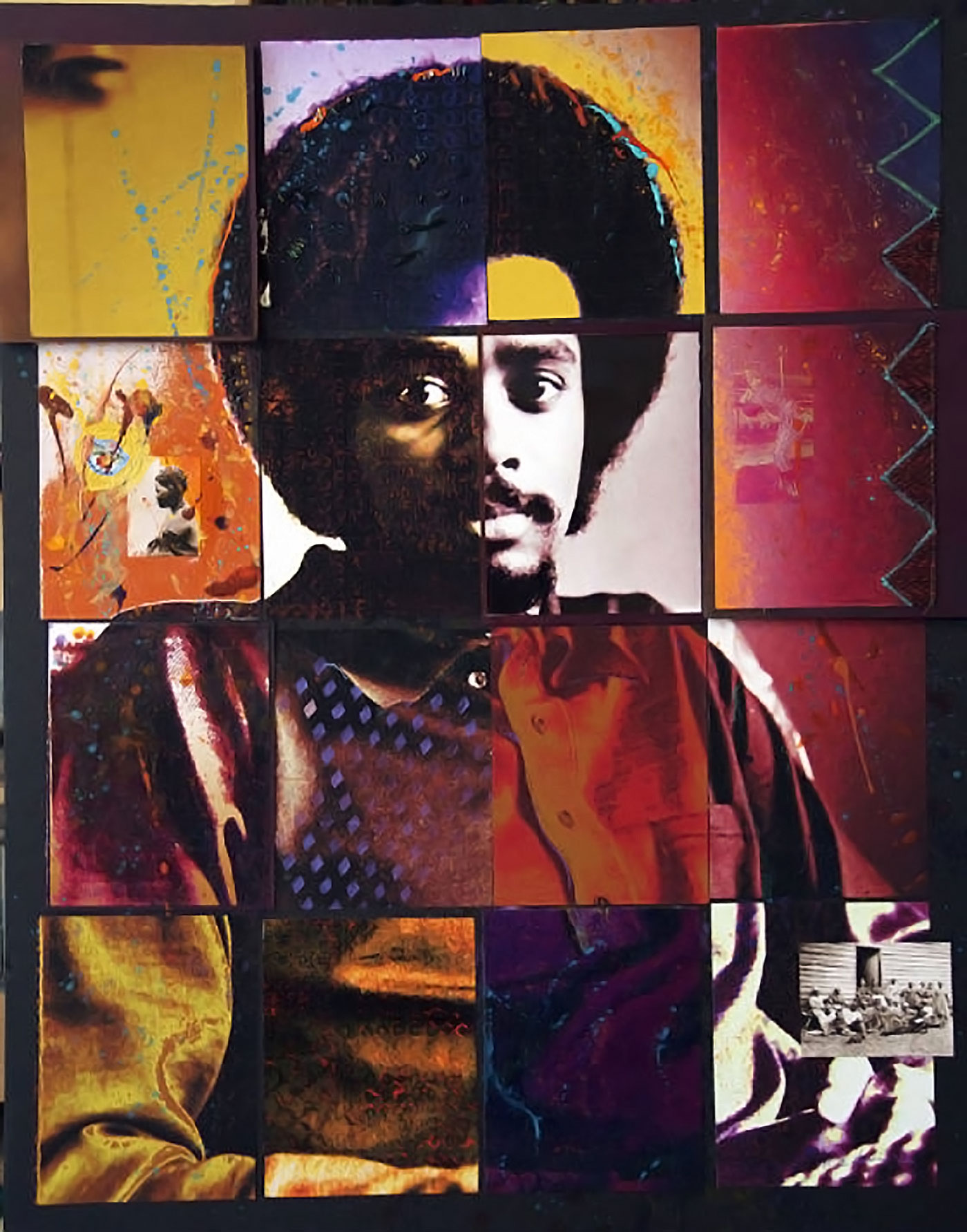 Portrait by Michael D. Harris in mixed media