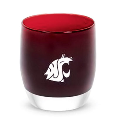 Cougar-themed glassybaby candle