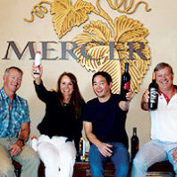 Mercer Estates staff raise their wine