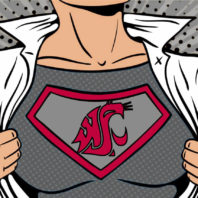 Cougar superhero illustration