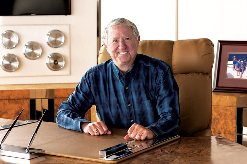 Jerry Jaeger at his desk