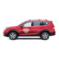 Car with Wi-Fi symbol on door