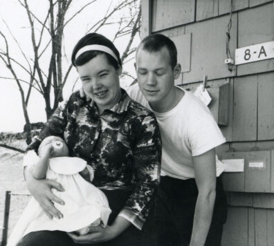 Doug and Tammy Auburg with daughter, 1964
