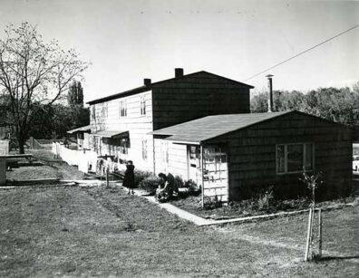 married student housing, South Fairway, WSU Pullman campus, 1953