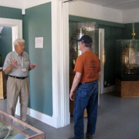 docent with visitor