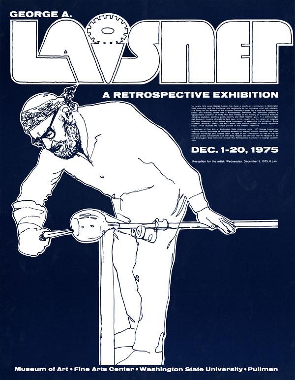 George Laisner retrospective poster
