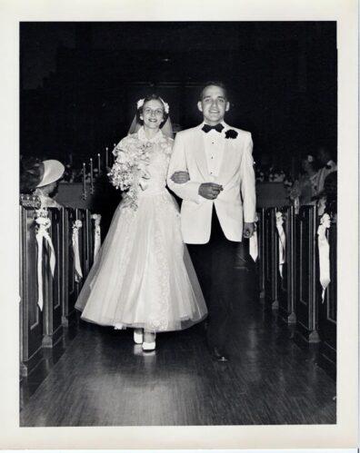 Duane and Arleen Stowe wedding in Yakima, 1954
