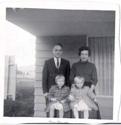 Daughters Merri Anne and Peggy in the 1960s