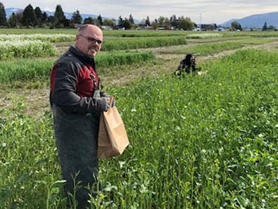 Don McMoran in a field