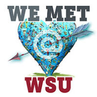 We met at WSU on the Blue Heart at WSU Pullman campus
