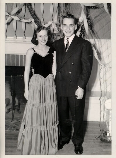 Duane and Arleen at Washington State College dance in 1950