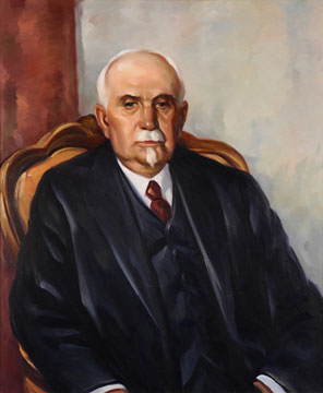 Frank Truman Post painting by Worth D. Griffin