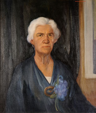 Mary Warren Spalding painting by Worth D. Griffin